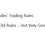 Richard Rhodes' Trading Rules