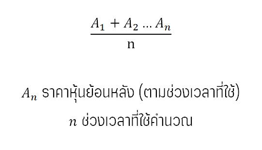 สมการคำนวณ SMA